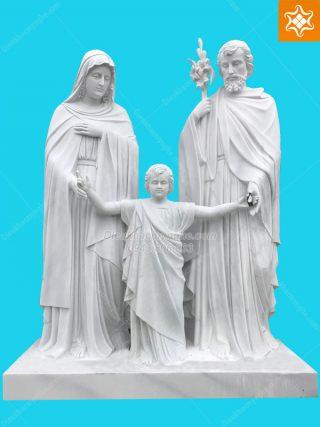 tượng gia đình thánh gia bằng đá